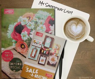 Occasions Catalog & SAB Catalog with shopping list by Sue Parker