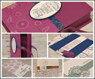 Paisleys & Posies Gift Box & Cards, PDF tutorial, Lisa's Stamp Studio, www.lisasstampstudio.com