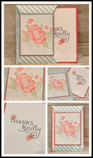 Pointed Slide Out Card, fancy fold, PDF tutorial, Lisa's Stamp Studio, www.lisasstampstudio.com