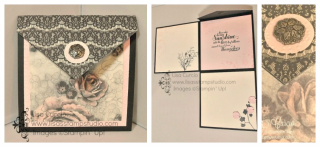 Fold Out Flap Card, fancy fold, PDF tutorial, Lisa's Stamp Studio, www.lisasstampstudio.com
