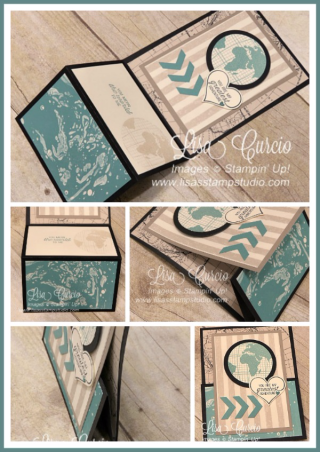 Upright Connected Z Fold, fancy fold, PDF tutorial, Lisa's Stamp Studio, www.lisasstampstudio.com