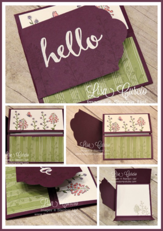 Label Flap Double Gate Fold, fancy fold, PDF tutorial, Lisa's Stamp Studio, www.lisasstampstudio.com