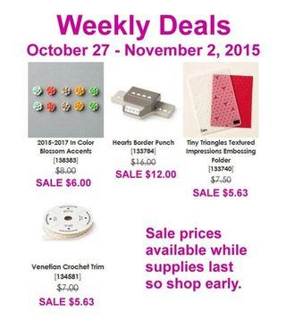 Weekly Deals Oct 27-Nov 2