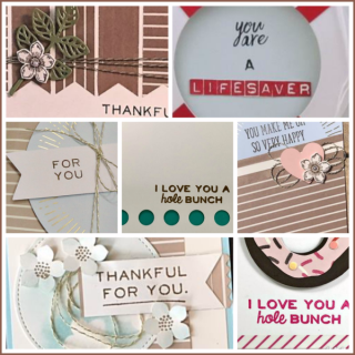 May 2017 Sprinkled with Love Paper Pumpkin Parade, alternate ideas, Stampin' Up!, card, paper, craft, scrapbook, rubber stamp, hobby, how to, DIY, handmade, Live with Lisa, Lisa's Stamp Studio, Lisa Curcio, www.lisasstampstudio.com