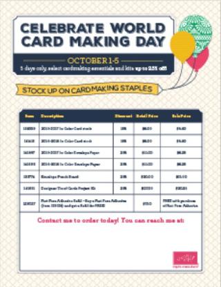 World Cardmaking Day flyer