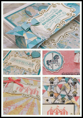 Carousel Birthday Cards & Box tutorial, Stampin' Up!, card, paper, craft, scrapbook, rubber stamp, hobby, how to, DIY, handmade, Live with Lisa, Lisa's Stamp Studio, Lisa Curcio, www.lisasstampstudio.com