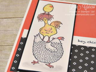 Stacked up chickens from Hey, Chick stamp set, Stampin' Up!, card, paper, craft, scrapbook, rubber stamp, hobby, how to, DIY, handmade, Live with Lisa, Lisa's Stamp Studio, Lisa Curcio, www.lisasstampstudio.com