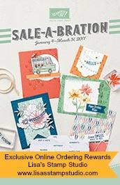 Sale-A-Bration brochure, Lisa's Stamp Studio, www.lisasstampstudio.com