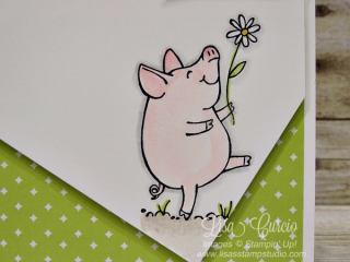 Look at this angled cut!  Stampin' Up!, card, paper, craft, scrapbook, rubber stamp, hobby, how to, DIY, handmade, Live with Lisa, Lisa's Stamp Studio, Lisa Curcio, www.lisasstampstudio.com