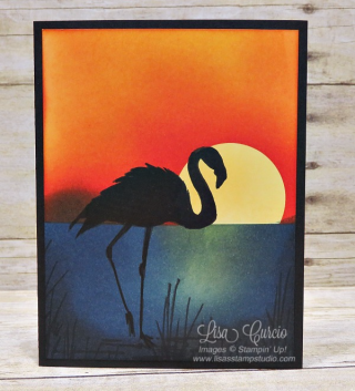 Sunset Flamingo, Fabulous Flamingo, Stampin' Up!, card, paper, craft, scrapbook, rubber stamp, hobby, how to, DIY, handmade, Live with Lisa, Lisa's Stamp Studio, Lisa Curcio, www.lisasstampstudio.com