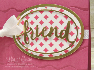 Colored Embossing Paste provides the perfect background for this image, Stampin' Up!, card, paper, craft, scrapbook, rubber stamp, hobby, how to, DIY, handmade, Live with Lisa, Lisa's Stamp Studio, Lisa Curcio, www.lisasstampstudio.com