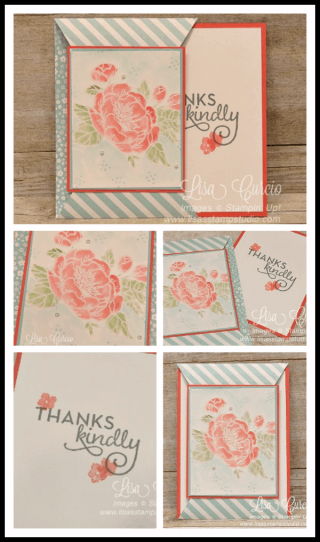 Pointed Slide Out Card (Use with any stamp set!) $2