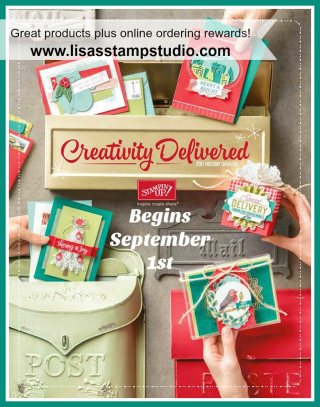 Holiday Catalog  www.lisasstampstudio.com where your orders get you the VIP treatment!