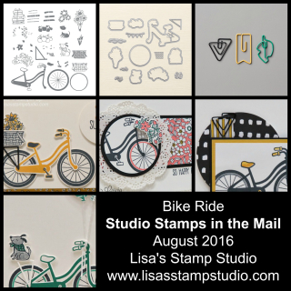 Stamp right from home with the August edition of Studio Stamps in the Mail - Bike Ride Bundle