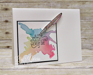 Ink blowing technique with a straw! Stampin' Up!, card, paper, craft, scrapbook, rubber stamp, hobby, how to, DIY, handmade, Live with Lisa, Lisa's Stamp Studio, Lisa Curcio, www.lisasstampstudio.com