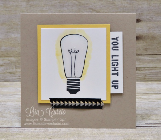 Light 'em up with Watts of Occasions! Stampin' Up!, card, paper, craft, scrapbook, rubber stamp, hobby, how to, DIY, handmade, Live with Lisa, Lisa's Stamp Studio, Lisa Curcio, www.lisasstampstudio.com