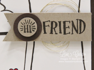 Share a cup of java with a friend! Stampin' Up!, card, paper, craft, scrapbook, rubber stamp, hobby, how to, DIY, handmade, Live with Lisa, Lisa's Stamp Studio, Lisa Curcio, www.lisasstampstudio.com