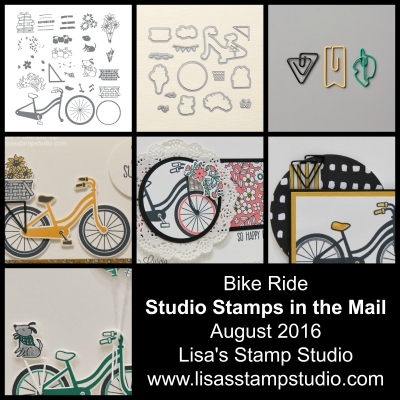 It's Time for a Ride – August's Studio Stamps in the Mail