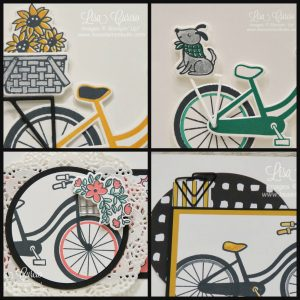 Project PDF Tutorial for 4 different cards features the Bike Ride Bundle. Great cards for all occasions. Stampin' Up!, card, paper, craft, scrapbook, rubber stamp, hobby, how to, DIY, handmade, Live with Lisa, Lisa's Stamp Studio, Lisa Curcio, www.lisasstampstudio.com