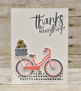 Take a Ride and deliver some thanks with the Bike Ride Bundle (stamp set and coordinating framelits)