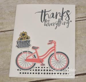 Take a Ride and deliver some thanks with the Bike Ride stamp set and Build a Bike framelits.