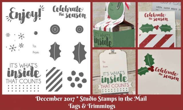 Stamp with me from home with a special edition of Studio Stamps in the Mail to make cards, gift card holders, tags and gift boxes. Free supplies plus video, PDF tutorial and more! Lisa's Stamp Studio. Stampin' Up! Tags & Trimmings.