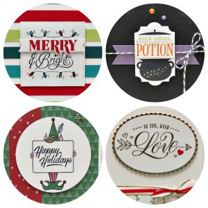 Festive Phrases Card Collection PDF Tutorial. Lisa's Stamp Studio