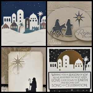 PDF tutorial for 4 different cards using the Night in Bethlehem Bundle. Lisa's Stamp Studio. Product by Stampin' Up!.