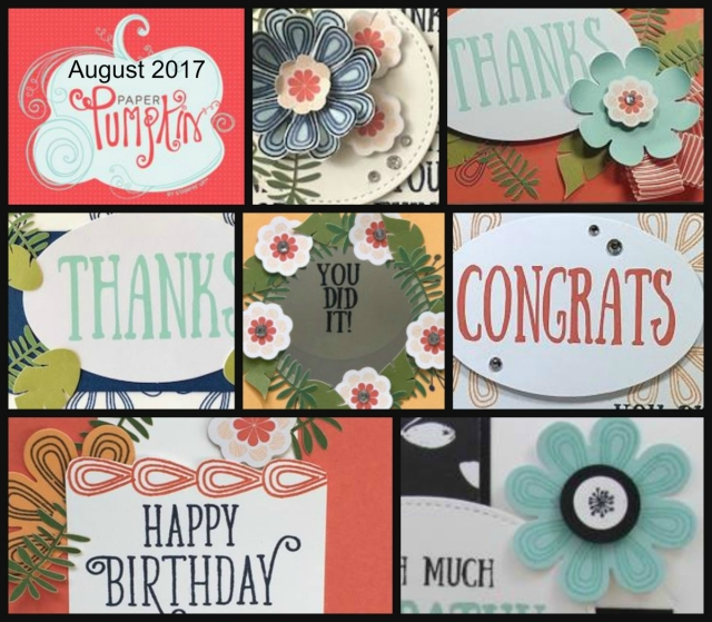Paper Pumpkin Parade provides 7 alternate ideas for each month's kit. Lisa's Stamp Studio