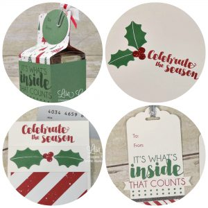 Gift boxes, gift card holders, tags and Christmas cards make up this 5 page tutorial at Lisa's Stamp Studio. Uses Tags & Trimmings from Stampin' Up!