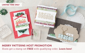 Oh that reindeer! Qualifying orders receive this stamp set for free through October 2017.