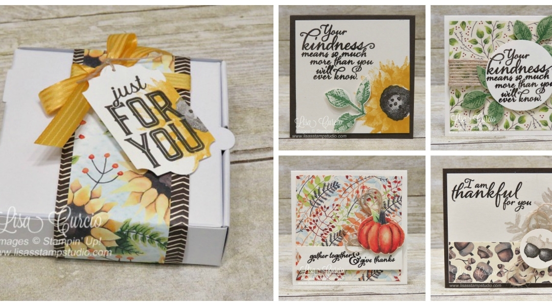 Painted Harvest Mini Pizza Box & Note Card Tutorial