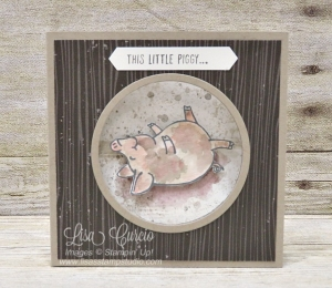 This Little Piggy rolls in mud on this adorable fancy fold card.