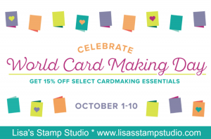 World Cardmaking Day Sale! 15% off paper crafting products through October 10th. Stampin' Up!