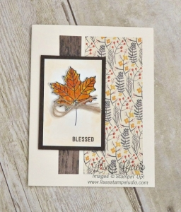 Fall is in the air! Gorgeous palette of autumn colors with a watercolor technique on a maple leaf. Stampin' Up!'s Colorful Seasons stamp set.