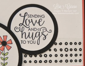Create simple yet impactful images using circle punches or dies. Garden Girl and Ribbon of Courage stamp sets by Stampin' Up!