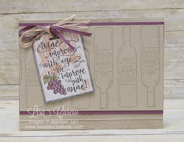 Half Full Wine Tag Card