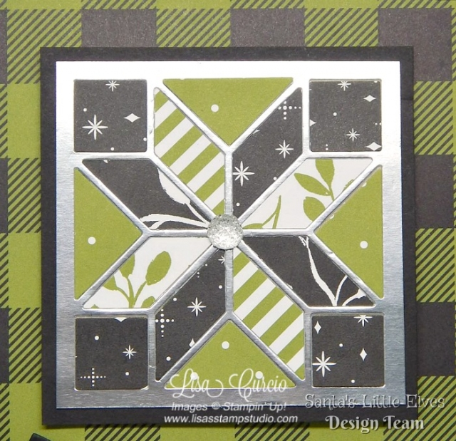 Create joy this Christmas with a handmade framed art project. Free tutorial. Quilt Builder & Large Letter Framelits from Stampin' Up!'s