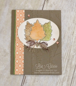 Use framelit dies as stencils for stunning cards. Leaflets Framelits by Stampin' Up! for a rich, autumn feel.