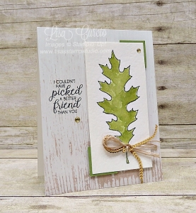 Use your framelits as stencils - video tutorial included! This fall card uses Stampin' Up! Leaflets Framelits.