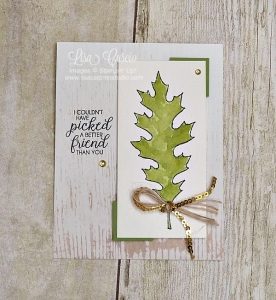This gorgeous olive leaf was created using a framelit die as a stencil! Stampin' Up!'s Leaflets Framelits.