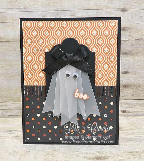 Vellum Ghost Halloween Card