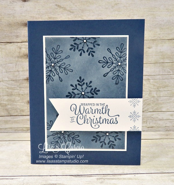 Glistening clear snowflakes are created with an emboss resist technique. Video tutorial shows you how. Spotlight with Lisa.