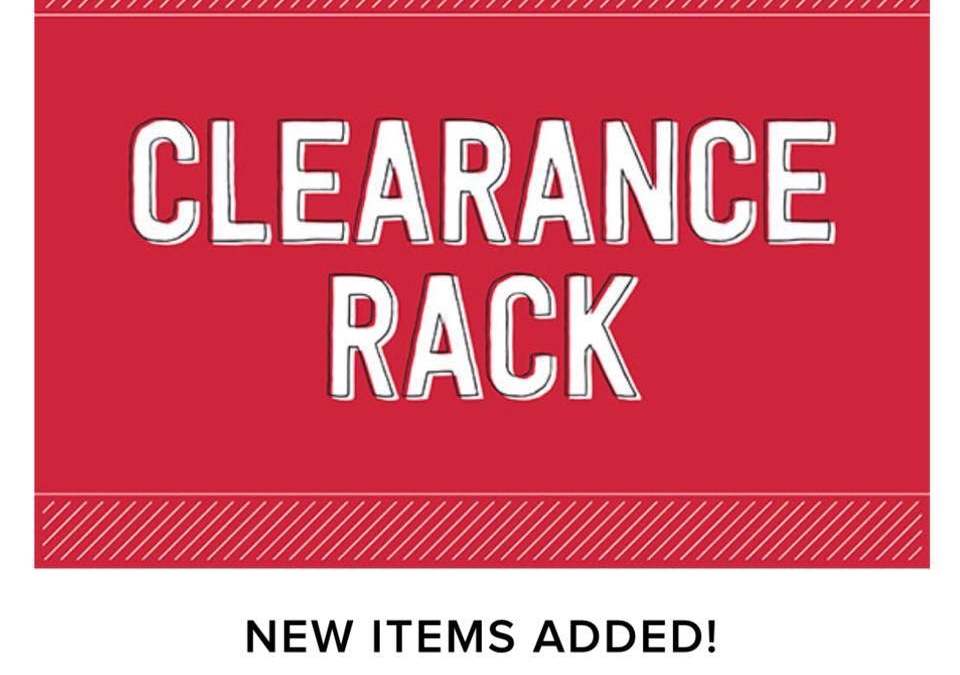 NEW Items in Clearance Rack