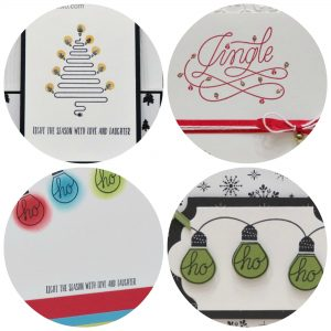 PDF tutorial for 4 different cards using the Wishes All Aglow stamp set. Stampin' Up!