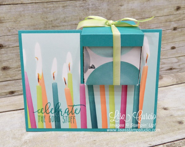Video tutorial! Box in a Card. Picture Perfect Birthday by Stampin' Up! with Picture Perfect Party designer paper.
