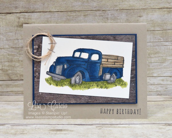 Coloring therapy! Country Livin' stamp set and Stampin' Blends. Stampin' Up!