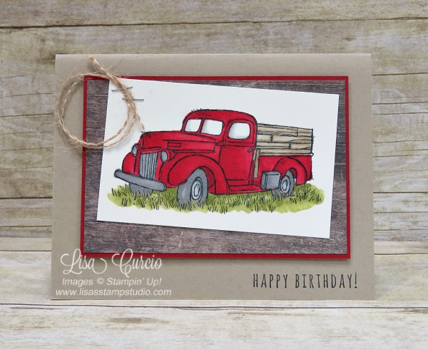 """Pick up"" some down time for a little coloring with the Country Livin' stamp set and the Stampin' Blends. Stampin' Up!"