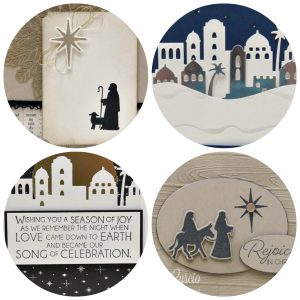 Night in Bethlehem card collection with 4 different designs. Lisa's Stamp Studio Project PDF Tutorials. Stampin' Up!