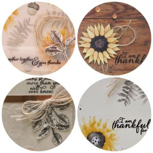 Painted Harvest card collection with 4 different designs. Lisa's Stamp Studio Project PDF Tutorials. Stampin' Up!
